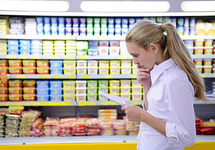 Faire une liste avec tous les aliments