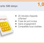 Carte sim Simyo 1 euro