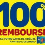 100 pourcent rembourse Carrefour