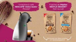 jeu Nestlé Dessert et Dolce Gusto