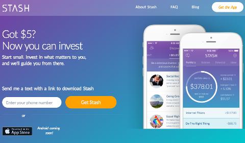 Stash, idéal pour apprendre à investir
